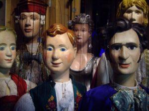 De acteurs van het Amsterdams Marionetten Theater